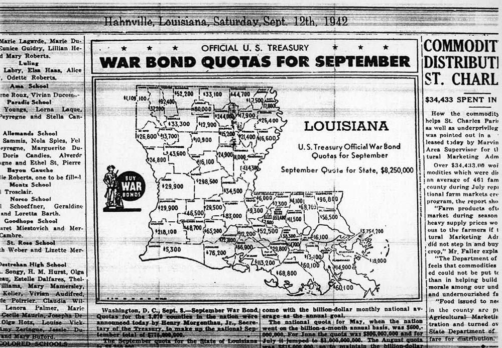 War Bond Quotas