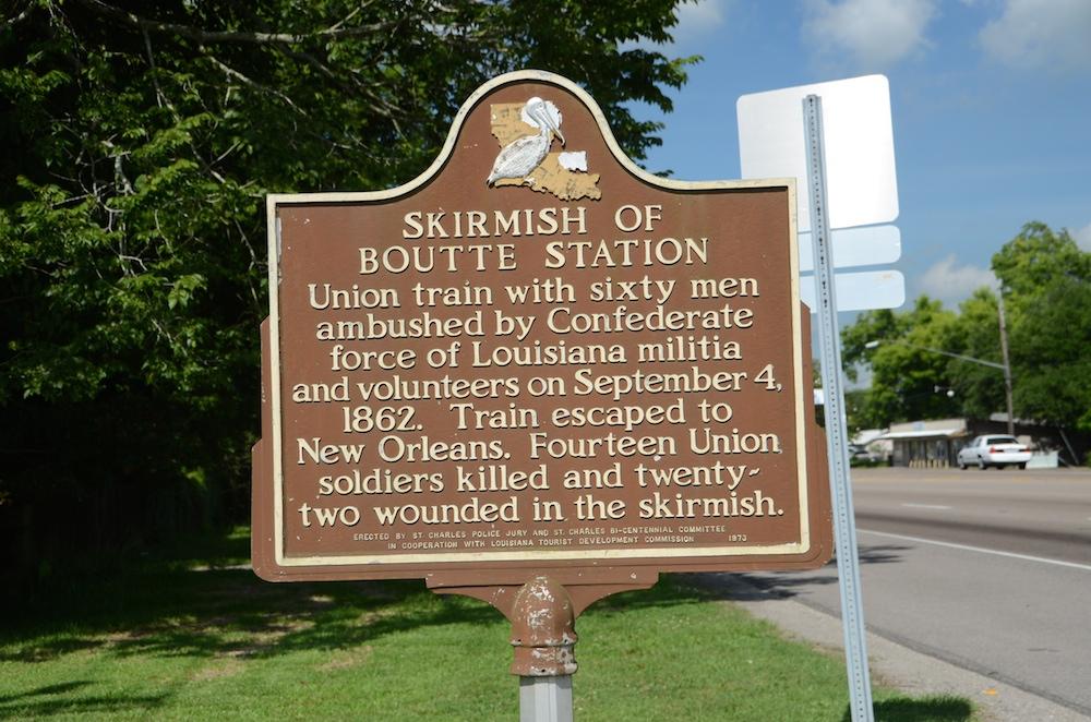 Skirmish of Boutte Station Historical Marker - Image