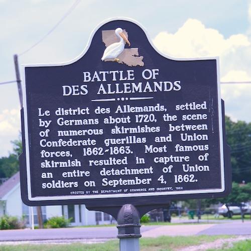 Battle of Des Allemands Historical Marker - Image