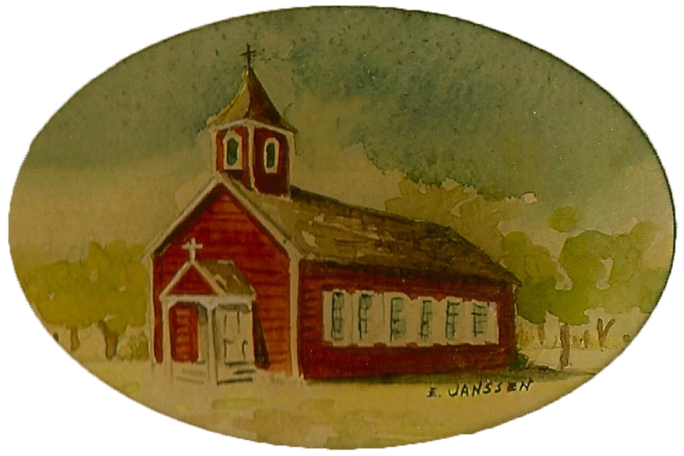 The Little Red Church Painting