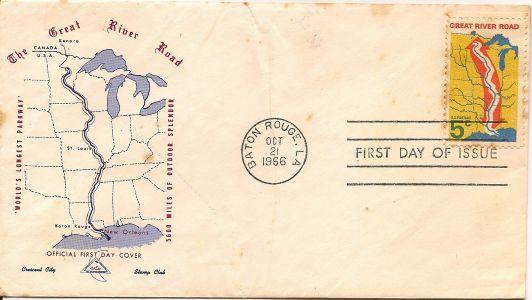 1966 Great River Road Commemorative Stamp