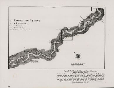 Map of the Mississippi between N.O. and Bayou Manchac