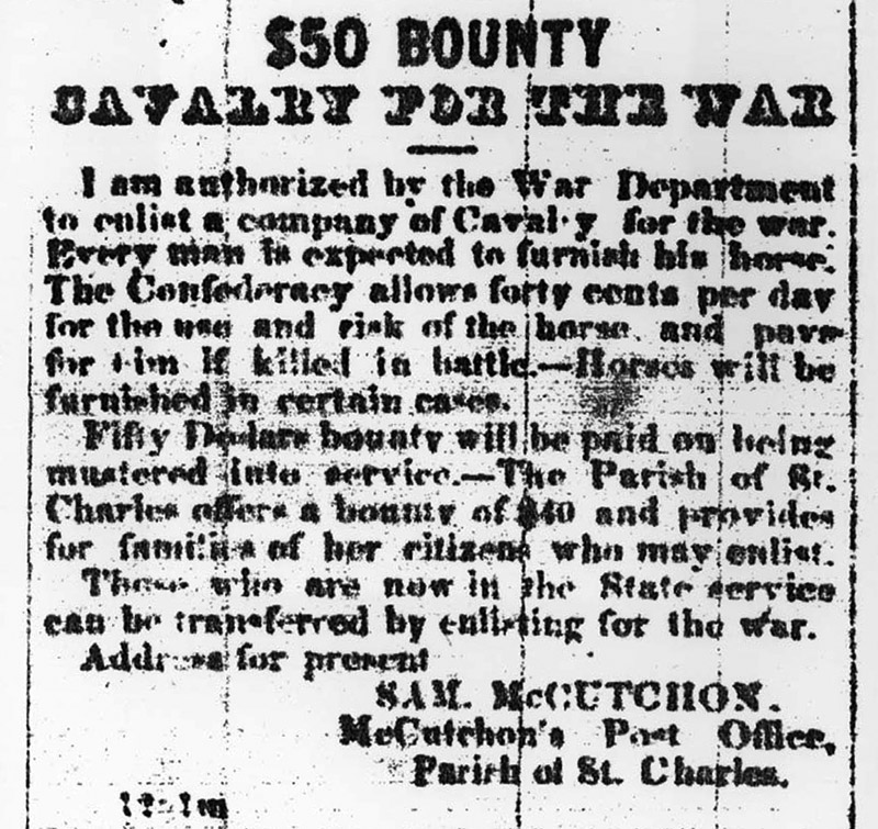 Call for Cavalrymen