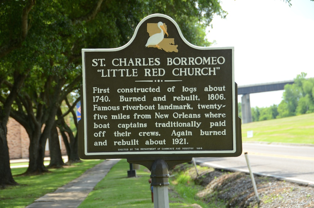 Little Red Church Historical Marker - Image