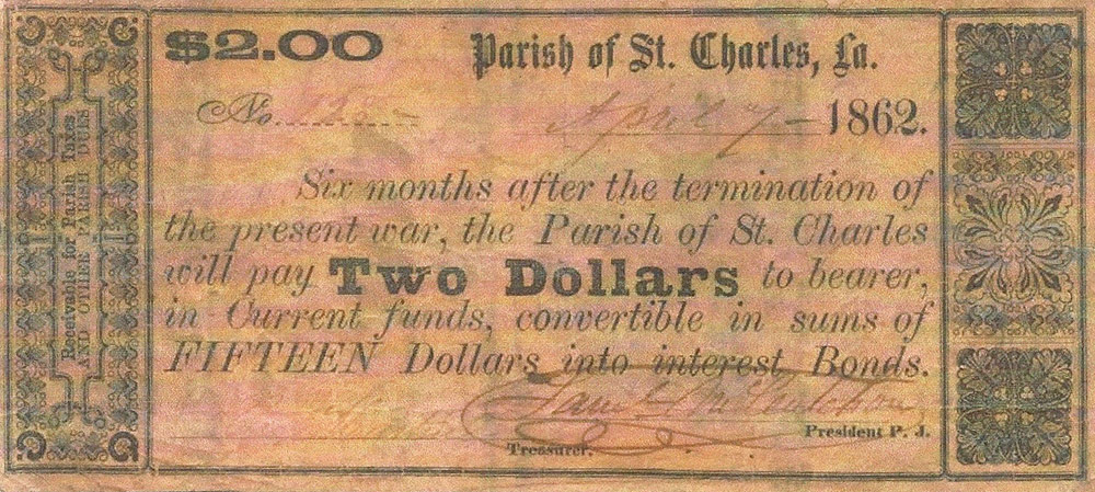 St. Charles Parish Currency