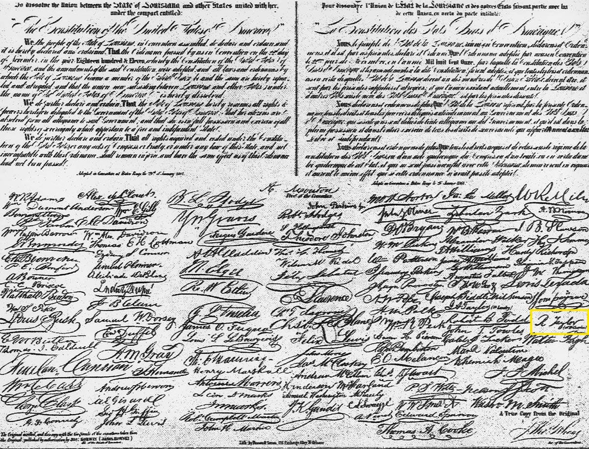 General Taylor's Signature
