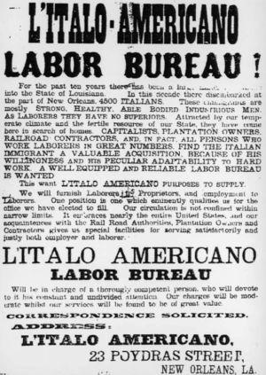 Italian Laborers Advertisement - Image