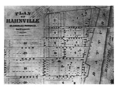 Plot Map of Hahnville - Image