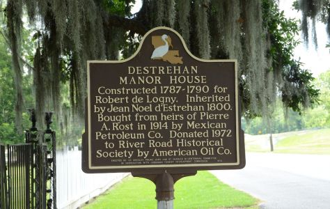 Destrehan Manor House Historical Marker - Image