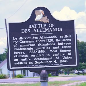 Battle of Des Allemands Historical Marker - Image