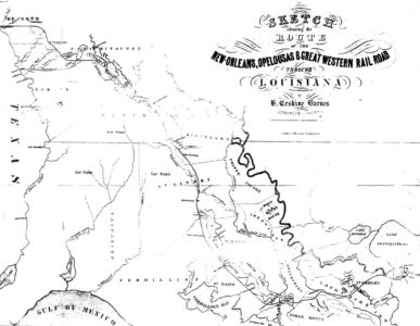 First Railroad Line in St. Charles Parish