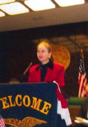 Diane Hine at Hahn Dedication