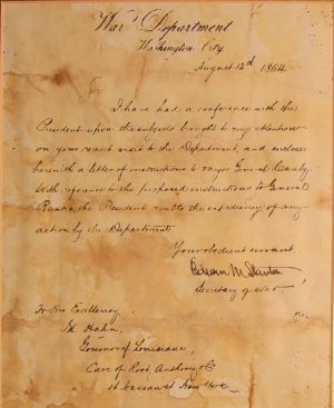 Letter from Edward Stanton