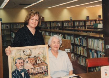 Lorraine Gendron with Marilyn Santa Cruz
