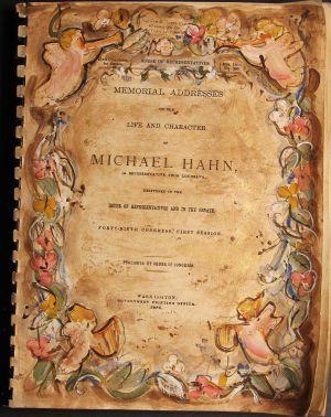 Cover of Michael Hahn Memorial Book