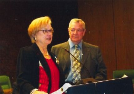 Dr. Vaughan Burdin Baker and Dr. Amos E. Simpson