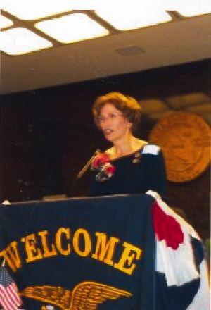 Marilyn Richoux at Hahn Dedication