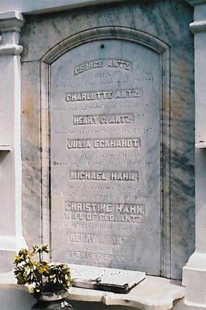 Closeup of Hahn's Tomb