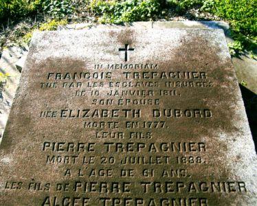 Francois Trépagnier Grave Marker - Image