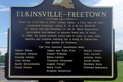 Elkinsville Historical Marker